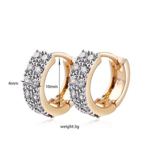 Fashion Couple Zirconia Setting Round Cut For Women CZ Hoop Cubic Channel Earrings Hinged Simulated Jewelry Cxgwa