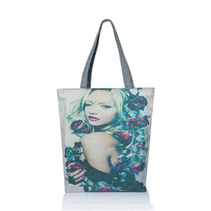 2017Printed Casual Tote Large Capacity Borse da donna Single Shoulder Shopping Bags Uso quotidiano Borsa da donna Borsa da spiaggia Borsa da stampa femminile