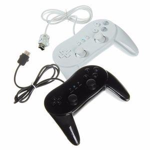 Nuovo gamepad classico del gamepad del regolatore classico metallico nero bianco per Wii U Wii Remote DHL FEDEX SME LIBERA IL TRASPORTO