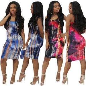 2018 nuove donne vestito casual Fashion Star Print vest canotta Vestidos Off spalla Club Wear Halter abiti aderenti