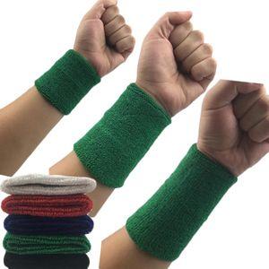 1 piezas muñeca Sweatband tenis deporte Wristband voleibol gimnasio muñeca Brace soporte sudor banda toalla pulsera Protector Sweatbands Sw