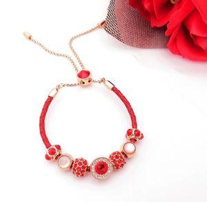 Charm Bracelets desinger Jewelry Sweet Bracelet Female Birth Year Korean Edition Micro-inlaid Zircon Bracelet top quanlity W7