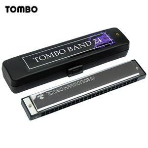 Tremolo Tombo Band Harmonica 24 trous 48 tons Blues Harpe Orgue à bouche Clé de C ABS Résine Laiton Reed Instruments de Musique Tombo 3124