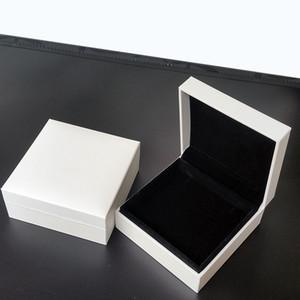 صناديق المجوهرات البيضاء الأصلية مع شعار العلامة التجارية ل باندورا سحر سوار وقلادة جودة عالية هدية التجزئة مربع