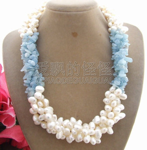 N010908 4Strands Pearl Natural Necklace