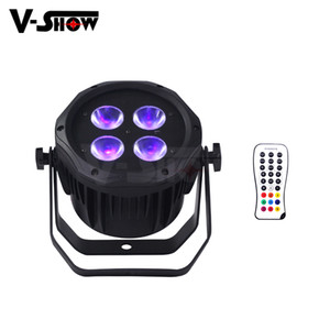 8pcs avec flux de batterie extérieure sans fil 4x18W 6in1 LED par DMX Télécommande LED par des lumières pour l'éclairage de décoration de mariage de Noël