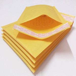 SıCAK Yeni 3.9 * 7.8 inç 100 * 200mm + 40mm Kraft Kabarcık Postacılar Zarflar Wrap Çanta Yastıklı Zarf Posta Ambalaj Kılıfı Ücretsiz Kargo