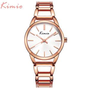 KIMIO кварцевые очаровательные нержавеющей стали обратно браслет часы женщины дамы платье Кристалл часы элегантный роскошные наручные часы с коробкой C18111301