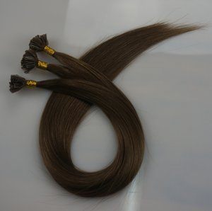 0.8g 스트랜드 200 가닥 Pre bonding Nail U Tip 헤어 익스텐션 Human hair 14 16 18 20 22 24 26inch # 2 # 4 Brazilian Indian hair