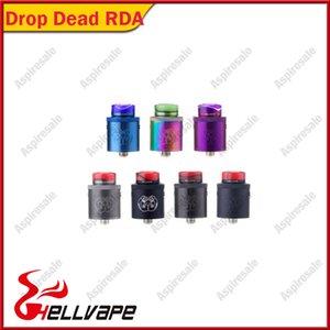Auténtico Hellvape Drop Dead RDA Atomizer 24mm Diámetro Dual Coil 810 Drip Tip Tank 510 Acrylic Drip Tips 100% Original