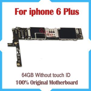 64GB مجلس المنطق الكامل ، لفون 6 زائد اللوحة الأم دون معرف اللمس ، مقفلة الأصل ل iphone 6P Mainboard ، شحن مجاني