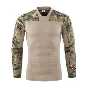 Camuflagem cores do Exército DOS EUA de Combate Uniforme militar camisa carga multicam Airsoft paintball tático pano com Camisa de Manga Longa