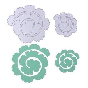 Роза цветок ролл резки металла умирает трафареты для DIY скрапбукинг фотоальбом DIY ручной работы ремесло украшения дома