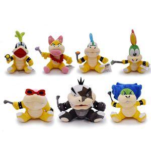 Super Mario Koopalings Pelúcia Wendy LARRY IGGY Ludwig Roy Morton Lemmy Koopa Plush Toys Stuffed Boneca