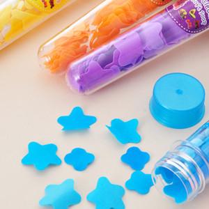 Portátil tubo de limpieza con jabones de manos Manos flor del jabón desinfectante de la mano de viaje de prueba de embalaje de papel Jabón Flor de la guardería infantil 0 98ya Ww