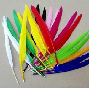 Frete grátis mais novo estilo retro Quill Pen Feather Ganso canetas esferográficas Para o Office Student recolher o presente de casamento, 1000pcs / lot SN935