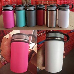 12 Unzen Vakuum-Wasserflasche Insulated 304 Edelstahl Trinkflasche Reise-Kaffeetasse Wide Mouth Flip Cap Cups 6 Farbe WX9-700