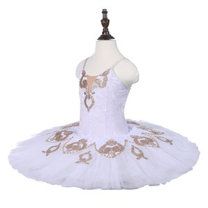 Girls Professional Ballet Tutu Children White Classical Dance Tutu Costumes Adult Performance Stage Competition Dancewear