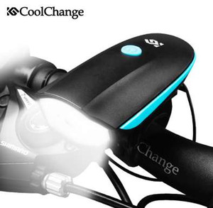 CoolChange Cloche De Vélo USB Charge De Vélo Corne Lumière Phare Vélo Multifonction Ultra Lumineux Électrique 140 dB Corne Vélo