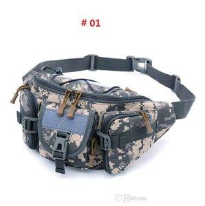 Wholesale-3 - 5L Tactical Molle Bolsa de cintura impermeable Fanny Pack Senderismo Pesca Deporte Caza Bolsos de cintura Camping Deporte Bolsa Cinturón
