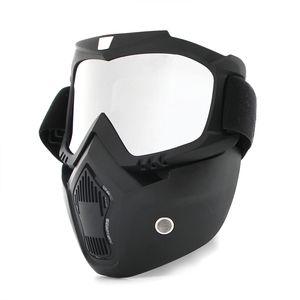 SıCAK Toz geçirmez Bisiklet Bisiklet Tam Yüz Maskesi Rüzgar Geçirmez Kış Isıtıcı Eşarp Bisiklet Snowboard Kayak ile uv gözlük Erkekler / kadınlar