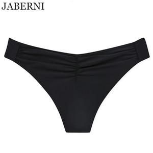 JABERNI Sexy Troncos de Natação Preto Bikini Bottoms Mulheres Sexy Swimsuits Two-Piece Separates Swim Planties De Cintura Baixa Nadar Inferior