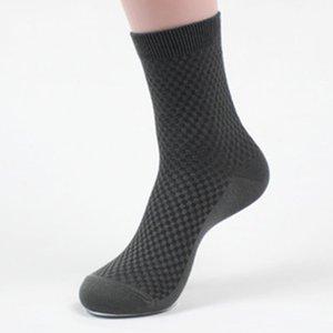 5 paare / los männer socken mode einfarbig business bambusfaser kurze socken frühling herbst atmungsaktiv langlebig männlichen socke meias großhandel