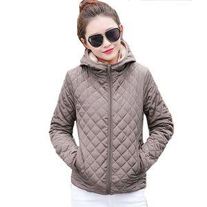 2018 solid black red short winter women basic jacket autumn thin fleece hooded womens coat casual outerwear casaco feminino S18101203