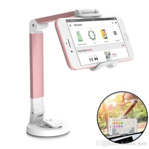 Zócalo rotatorio del tenedor del teléfono del coche del estallido de 360 grados Tenedor universal del soporte de escritorio del teléfono del tamaño de 5.5 pulgadas para el iPhone Samsung Xiaomi