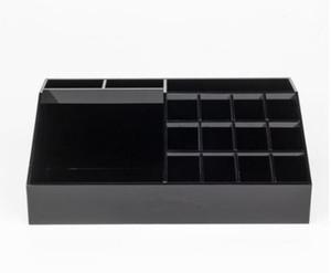 Новый классический акриловый черный помада многофункциональный дисплей стенд косметика организатор аксессуары ящики для хранения с подарочные коробки 2018
