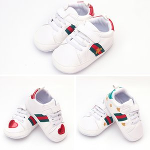 2018 새로운 스타일 아기 첫 번째 워커 Newbor 아기 소년과 소녀 스니커즈 캔버스 신발 Infantil 소프트 하단 어린이 신발