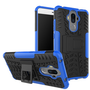 Phone case for huawei p20 pro lite mate 9 kick stand combo cell phone case multi-function 2 in 1 mobile phone cases