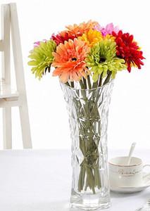 Decorativo 10pcs fiori artificiali di seta Gerbera Daisy bouquet di fiori decorativi per la decorazione della festa nuziale della casa in camera