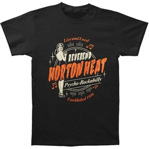 T-shirt da uomo vivente Reverend Horton Heat da uomo Nero 2018 New Fashion T Shirt da uomo Cotone Estate La nuova moda
