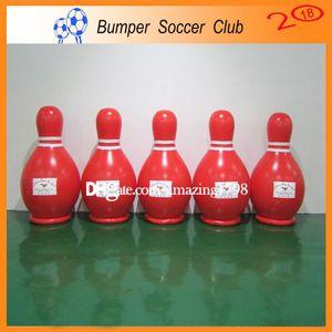 Spedizione gratuita gratuita una pompa 6 pezzi un sacco 1.8 m palla da bowling gonfiabile gonfiabile umano bowling sport umano Bowling Pins