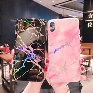 Holo TPU Kapak Krom Mermer Kılıf iphone X Xs Max XR 7 8 Artı Not 9 Huawei P20 Pro Nova 3e / 3i