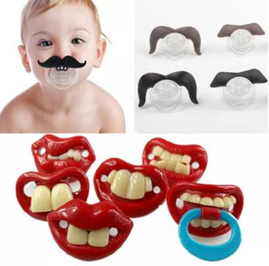 Silicone Funny Nipple Dummy Baby Soother Joke Prank Toddler Pacy Orthodontic Nipples Teether Baby Pacifier Christmas Gift HZ0