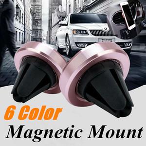 Soporte magnético de montaje en automóvil para teléfono con ventilación y ventilación para iPhone X 8 Samsung Note 9 Stand Outlet Imán Soporte para coche con tablero al por menor