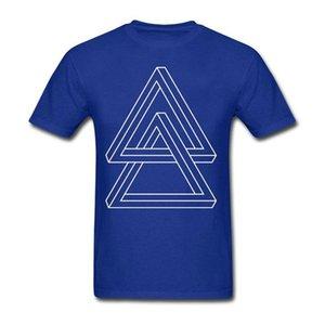 Heißer Verkauf Geometrische Duo Impossible Dreiecke T-stück Männer Natürliche Baumwolle Kühlen T-Shirt Nach Maß Rundhals Teenager T-Shirts