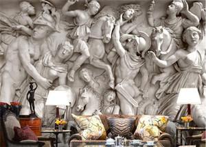 Sob encomenda da foto papel de parede 3D estátuas Romanas arte papel de parede restaurante retro sofá pano de fundo 3d papel de parede mural pintura de parede