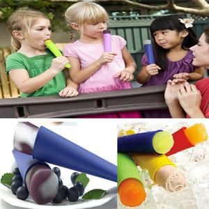 6 colores silicona hielo Pop molde paletas molde con tapa DIY helado fabricantes Push Up helado jalea Lolly Pop para paletas