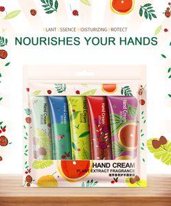BIOAQUA Set de crème pour les mains Arôme végétal Hydra Hydratant Hydratant Nourrissant Anti-gerçures Set de soin blanchissant pour la peau 30g