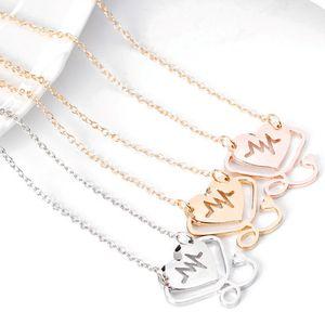 Newfangled Halskette Stethoskope Anhänger Halsketten Elektrokardiogramm Silber Gold Rose Gold Legierung Mode Halskette für Frauen Geschenk