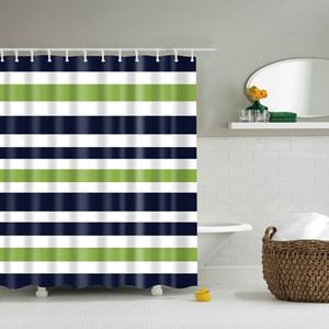 친환경 화려한 무지개 줄무늬 패턴 욕실 커튼 방수 폴리 에스테르 친환경 샤워 커튼 150 * 180cm 180 * 180cm