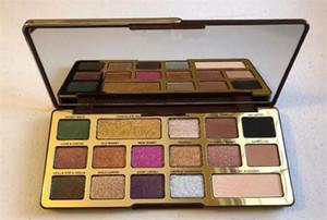 Schneller Versand Schokolade Gold-Lidschatten-Palette 16 Farben Schokoladen-Augen-Schatten-Mattschimmer natutal Palette konfrontiert eyesahdow Make-up