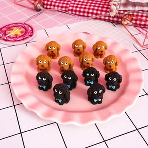 Yeni Mini Hayvan Reçine Action Figure Modeli Çocuk Oyuncakları Teddy Simülasyon Köpek Koleksiyonu Dekorasyon Noel Bebek