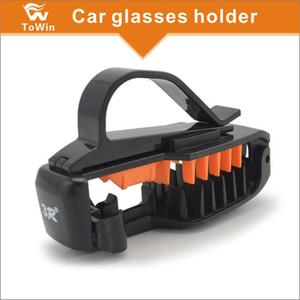 Caja universal de gafas de sol para gafas de sol Caja de almacenamiento Caja de gafas para ojos con soporte de tarjeta para Sunvisor, Montura para gafas de sol para automóvil