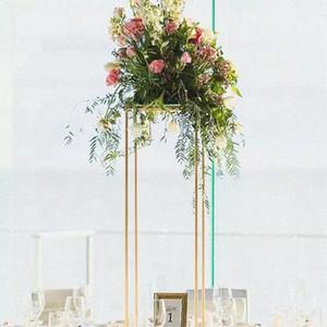 10PCS New square metal centerpiece flower stand wedding decoration table centre pieces marriage stage aisle decor backdrop metal vases
