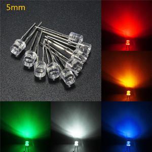 3mm / 5mm LED diodes électroluminescentes Flat Top Water Clear Light Assortiment Lampe DIY Kits 5 Couleur Blanc Jaune Rouge Bleu Vert