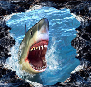 duvar resmi duvar kağıdı köpekbalığı 3d üç boyutlu boyama 3d resim masaüstü duvar kağıtları hd